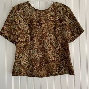 Vintage short sleeve top SIZE PETITE 8
